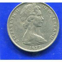 Новая Зеландия 20 центов 1977
