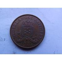 Нидерланд. Антиллы 2,5 цента 1974г не частая распродажа