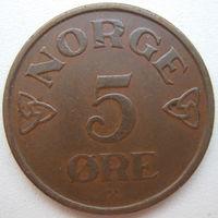 Норвегия 5 эре 1955 г. (d)