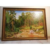 Картина Шишкина Сосновый бор. Мачтовый лес в Вятской губернии