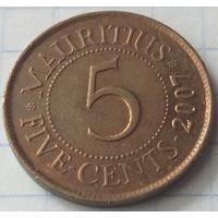 Маврикий 5 центов, 2007    ( 1-8-4 )