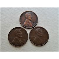 США 1 цент 1961, 1964 и 1969
