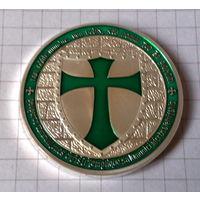 Орден Тамплиеров -зелёная эмаль-