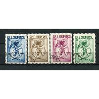 Албания - 1957 - 45-летие Независимости - [Mi. 553-556] - полная серия - 4 марки. Гашеные.  (Лот 59L)