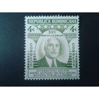 Доминиканская р-ка 1955 генераллисимус Р. Трухильо - 25 лет у власти