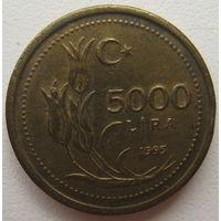Турция 5000 лир 1995 г.