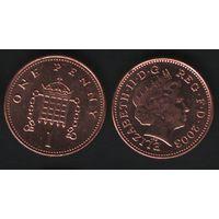 Великобритания _km986 1 пенни 2003 год (обращ) km986 магнит (h01)