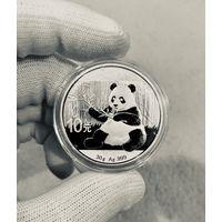 Монета ПАНДА Китая 2017, Серебро, 30g