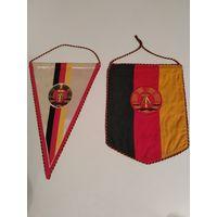 Вымпел ГДР Герб города Бад-Лангензальца и вымпел Флаг ГДР 1970 г.