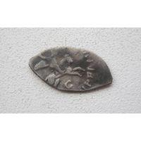 R.Монета Ивана III Новгородский чекан (с изображением всадника - знак С)