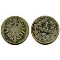 Германия 1 марка 1875