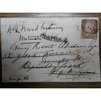 Красный пенни на конверте.1842г.