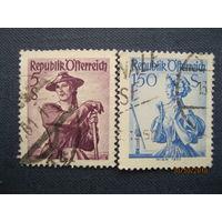Марки Австрия 1948, 1951год Костюмы/Фольклор