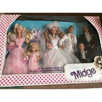 Midge Wedding Day Barbie Ken Alan Todd Kelly набор 6 кукол