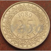 4813:  25 центов 1989 Суринам