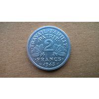 Франци 2 франка, 1943г.  Режим Виши