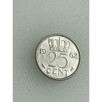 25 центов 1962 г., Нидерланды