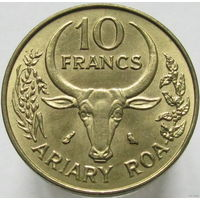 1к Мадагаскар 10 франков 1972 ФАО В КАПСУЛЕ распродажа коллеции