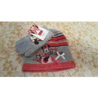 Шапка+перчатки Мики маус