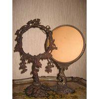 Королевство кривых зеркал,- или антикварные зеркала без зеркал-18-19 века!