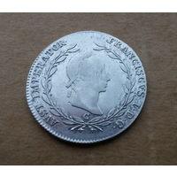Австрия, Франц II (I), 1792/1806-1835, 20 крейцеров 1830 г., серебро