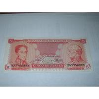Венесуэла - 5 боливаров - 1989 г.