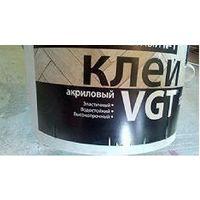 Клей vgt для паркета акриловый 9 литров (доставка)