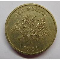Гернси 1 фунт 1981 г