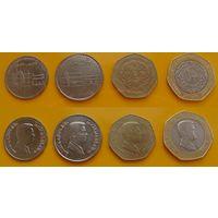 Набор Иордания 50 пиастр(1/2 дирхама) 2009г, 25 пиастр(1/4 дирхама) 2009г, 10 пиастр 2012г, 5 пиастр 2012г.  Абдалла II.