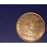 5 толаров 1996 Словения, олимпиада, 100 лет олимпийским играм.