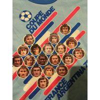 Винтажная майка с фото сборной Франции 1978 РЕДКОСТЬ