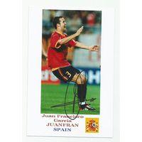 Juan Francisco Garcia JUANFRAN(Испания). Фотография с живым автографом.