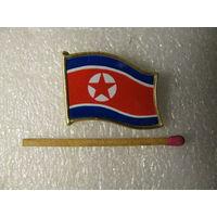 Знак. Флаг Северной Кореи.