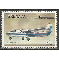 Гренада. Самолёт Твин Выдра-100. 1976г. Mi#785.