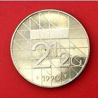 57-12 Нидерланды, 2 1/2 гульдена 1990 г.
