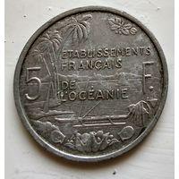 Французская Океания 5 франков, 1952 3-1-19