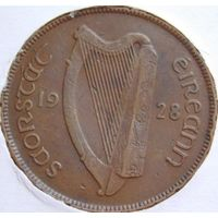 Ирландия 1 пенни 1928 год