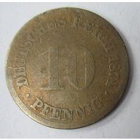 Германия. 10 пфеннигов 1874.  2-90