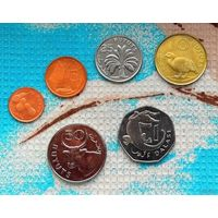 Гамбия набор монет 1, 2, 5, 10, 25, 50 бутут; 1 даласи. UNC