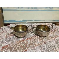 Сливочник и Сахарница Серебряное покрытие Viking Plate Канада винтаж