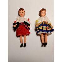 Распродажа! Старые виниловые куклы (11см) в национальных костюмах. С рубля.