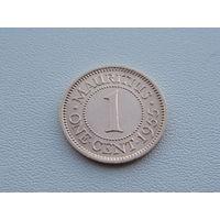 Маврикий. 1 цент 1955 год  KM#31