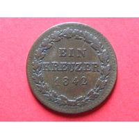1 крейцер 1842 года (герцогство Нассау)