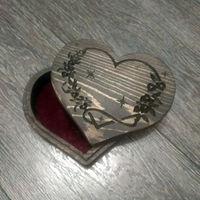Шкатулка из массива Сердце