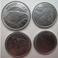 Бразилия 10-100-500-1000 крузейро 1992-1993 г. Животные (u)
