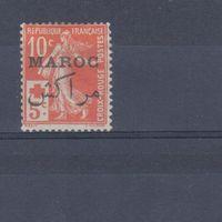 [1863] Французские колонии. Марокко 1915. Красный Крест.Надпечатка. МН.