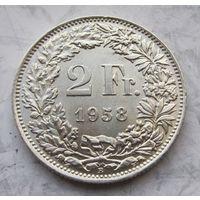 Швейцария, 2 франка, 1958, серебро