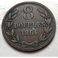 Гернси 8 дублей, 1864  1-9-8