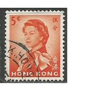Гонконг. Королева Елизавета II в униформе. 1962г. Mi#196.