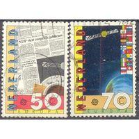 Нидерланды Европа-Септ 1991 год космос флаги